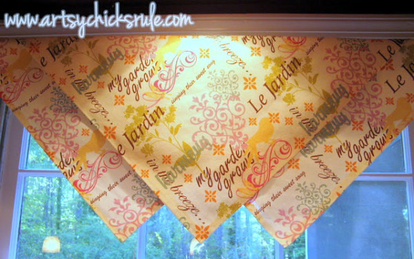 No Sew Window Treatment Ideas - #nosew artsychicksrule