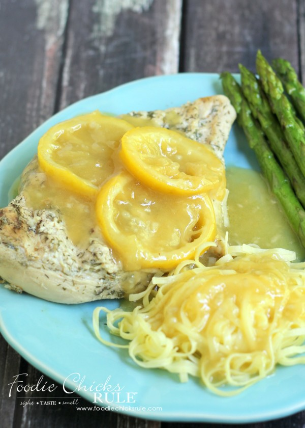 Best Ever Lemon Garlic Marinade - Pictured with Lemon Chicken - #marinade foodiechicksrule