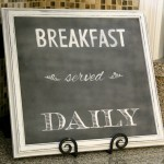 Breakfast Served Daily Chalkboard Art (Trash to Treasure)