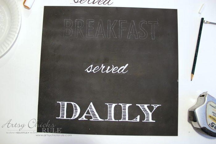 Breakfast Served Daily Chalkboard Art