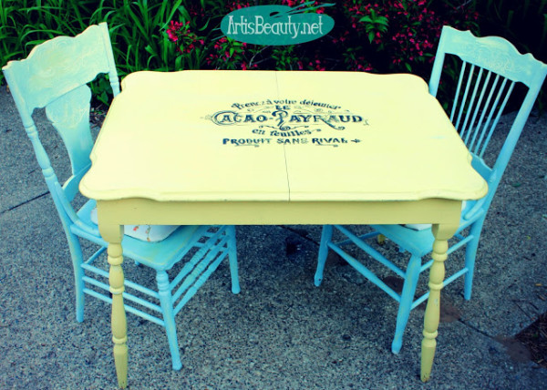 Furniture Makeover with Graphics - Art is Beauty