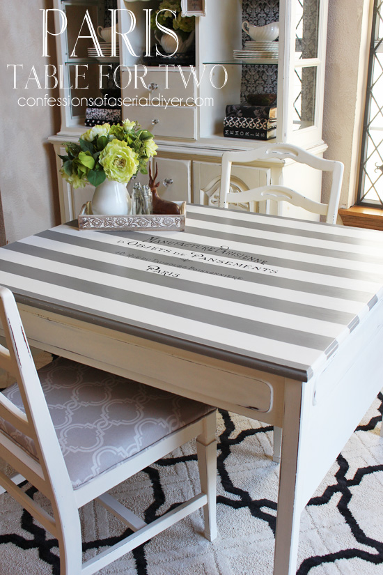 Furniture Makeover with Graphics - Confessions of a Serial Do It Yourselfer 2