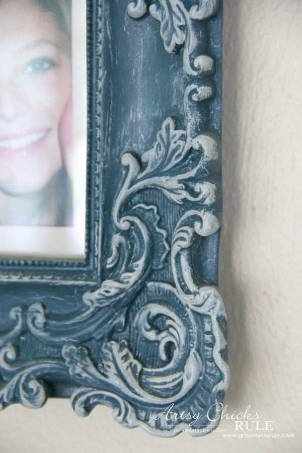 Gallery Wall (Decorating Challenge) - Chalk Painted and Dry Brushed - #gallerywall artsychicksrule