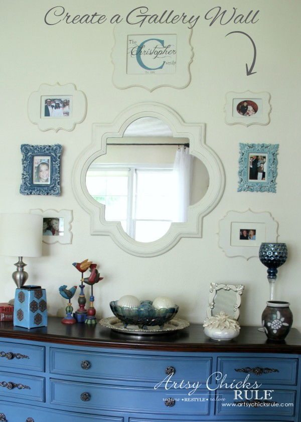 Gallery Wall (Decorating Challenge) - Create a Gallery Wall - #gallerywall artsychicksrule
