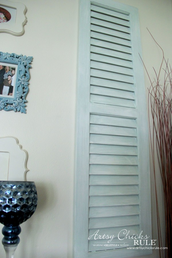 Gallery Wall (Decorating Challenge) - Cut Out Frames - Right Repurposed Shutter -#gallerywall artsychicksrule