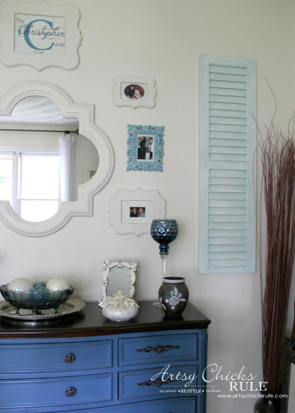 Gallery Wall (Decorating Challenge) - Cut Out Frames - Right Shutter #gallerywall artsychicksrule