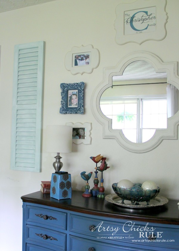 Gallery Wall (Decorating Challenge) - Left Shutter - #gallerywall artsychicksrule