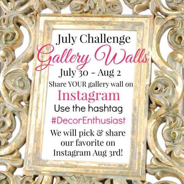 Gallery Wall (Decorating Challenge) - #gallerywall artsychicksrule