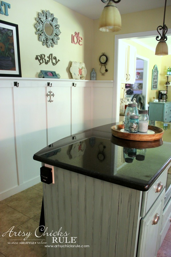 Kitchen Makeover - AFTER Wall Removed - #kitchen #Makeover artychicksrule