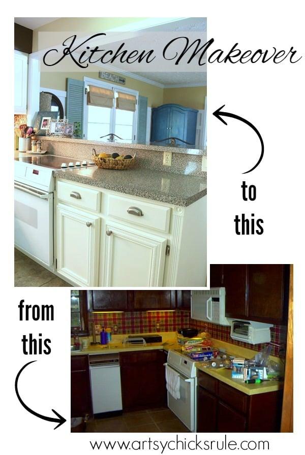 Major Kitchen Remodel Before After Artsy Chicks Rule