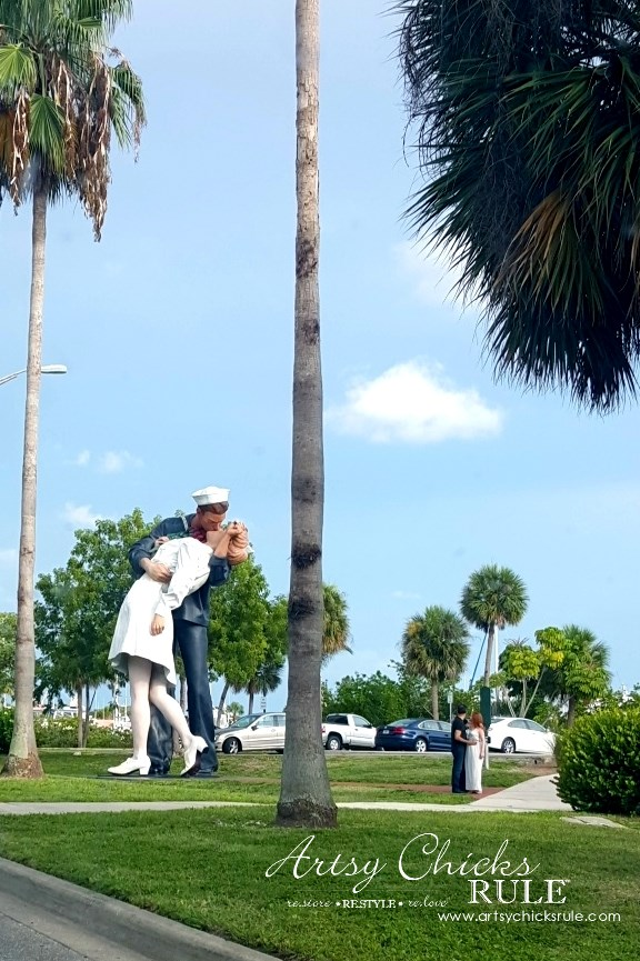 Anna Maria Island Florida Vacation - Do you see the couple mimicking the statue - artsychicksrule
