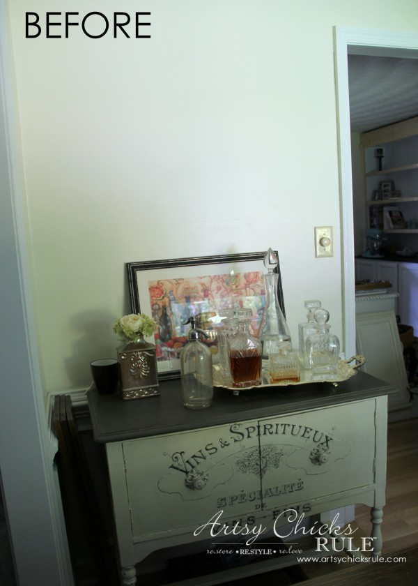Dining Room Bar Cabinet (new paint) - artsychicksrule