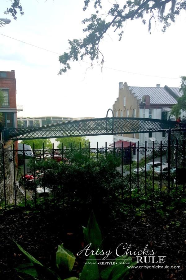 Historic Savannah Georgia - looking towards River Street - artsychicksrule
