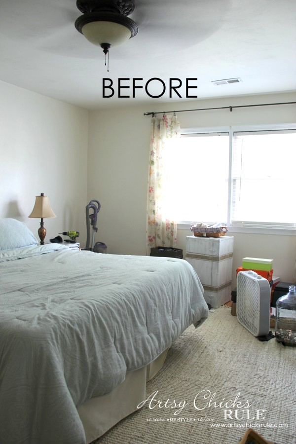 Master Bedroom Plans & a Mood Board - BEFORE redecorating - Window - artsychicksrule