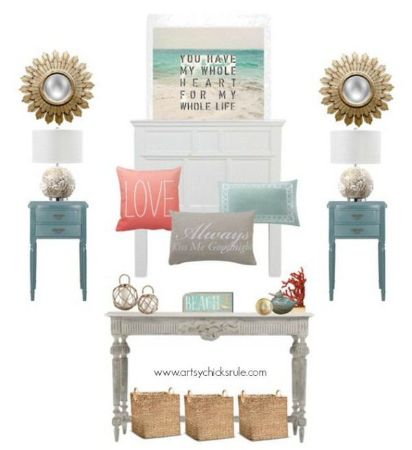 Master Bedroom Plans & a Mood Board - Beach Themed Bedroom - artsychicksrule