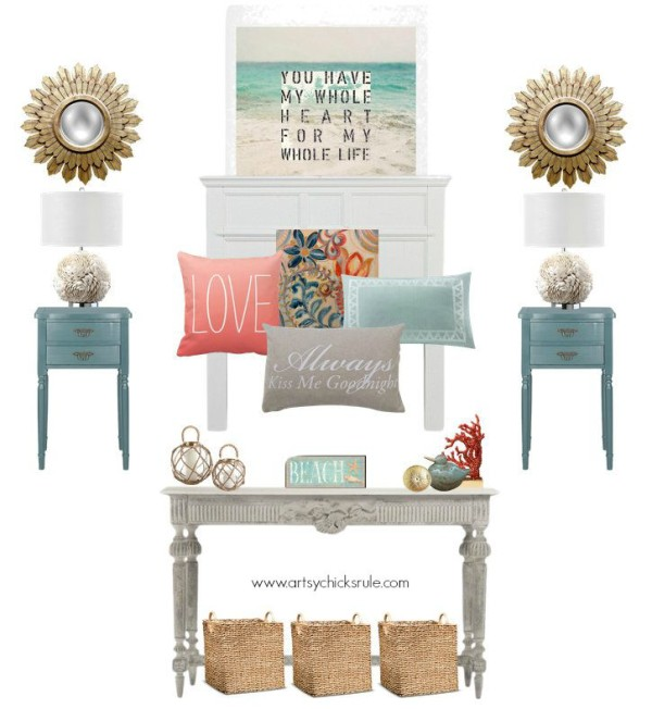 Master Bedroom Plans & a Mood Board - with a splash of color - artsychicksrule