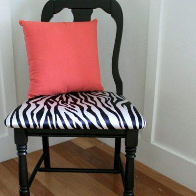 Zebra Chair Makeover (Animal Theme)