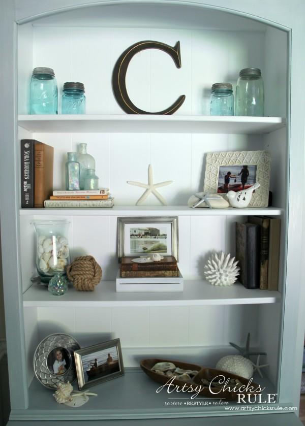 Coastal Styled Bookshelves Decor Challenge Coastaldecor Styling Artsysrule
