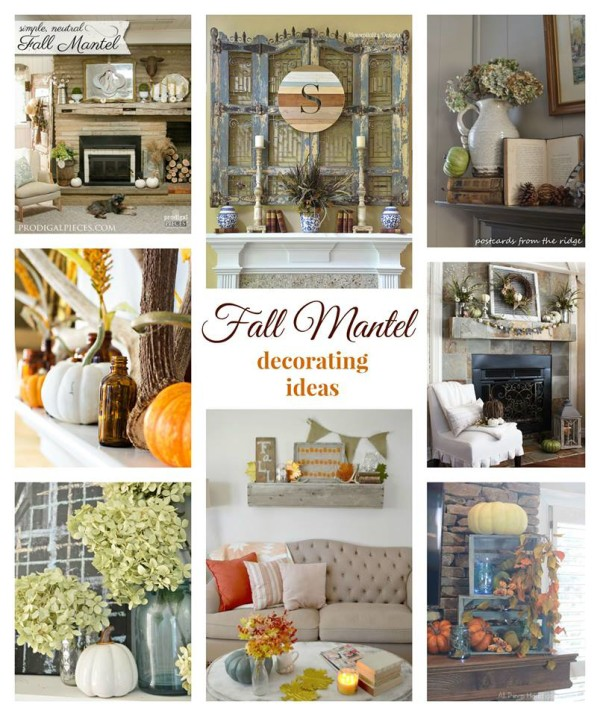 Fall Mantel Ideas - artsychicksrule
