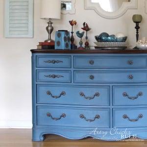 Aubusson Blue Dresser Re-do