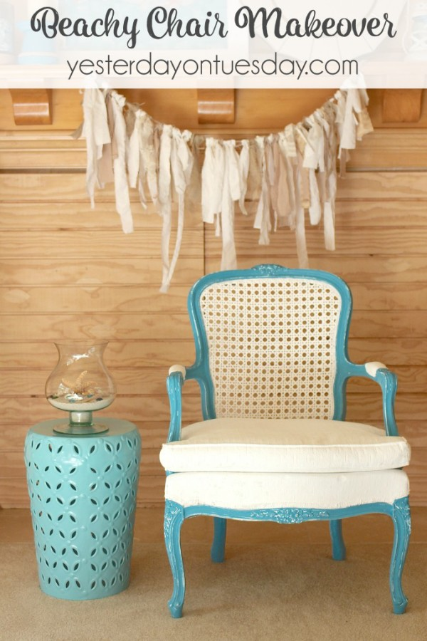 Beachy-Chair-Makeover1-Yesterday on Tuesday