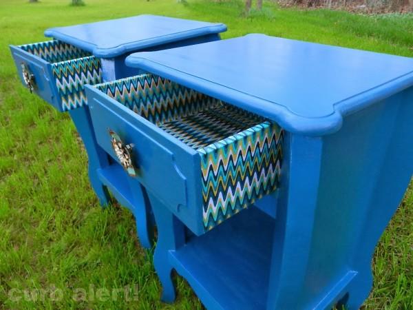 Blue End Tables - Curb Alert