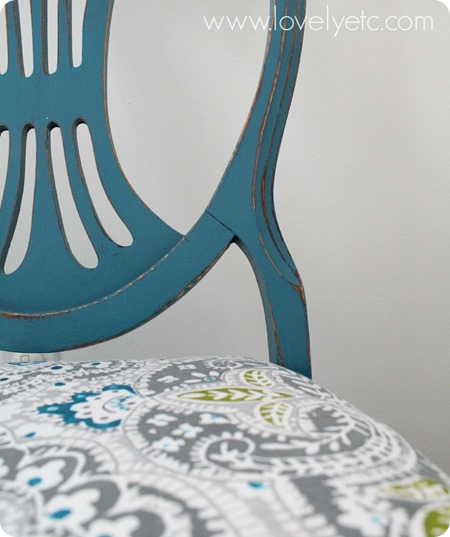 Details-of-painted-reupholstered-chair - Lovely etc