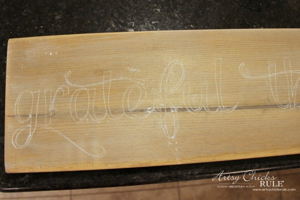 Grateful, Thankful, Blessed DIY Weathered Sign - Transferred with Chalk - artsychicksrule