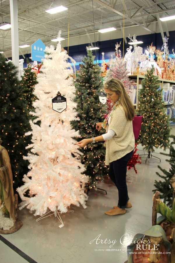 Holiday Decor Ideas with At Home (Pt 1 of 3) Love the huge tree selection - #AtHomeforChristmas #AtHomeFinds #ad