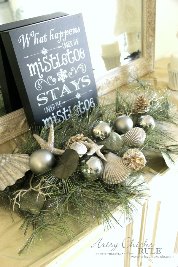 Holiday Decor Ideas with At Home (Pt 1 of 3) Seas & Greetings greenery - #AtHomeforChristmas #AtHomeFinds #ad