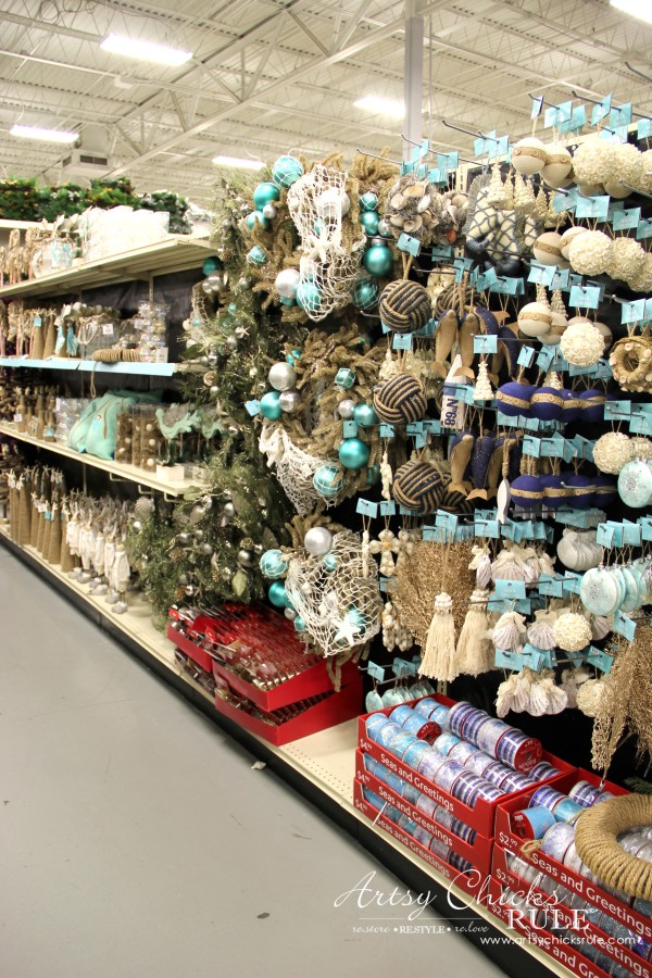 Holiday Decor Ideas with At Home (Pt 1 of 3) Seas and Greetings Isle - #AtHomeforChristmas #AtHomeFinds #ad