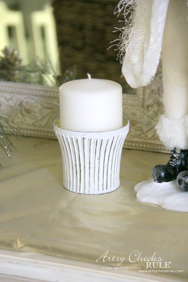 Holiday Decor Ideas with At Home (Pt 1 of 3) Votive Snowcapped Scene - #AtHomeforChristmas #AtHomeFinds #ad