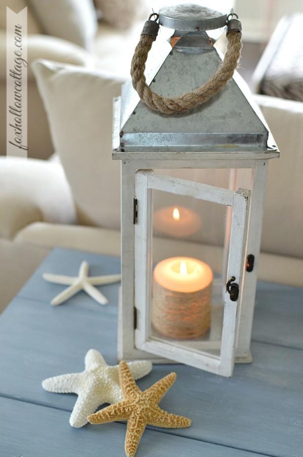 Home-Goods-Lantern-Coastal-Decoration-Painted-Furniutre - Fox Hollow Cottage