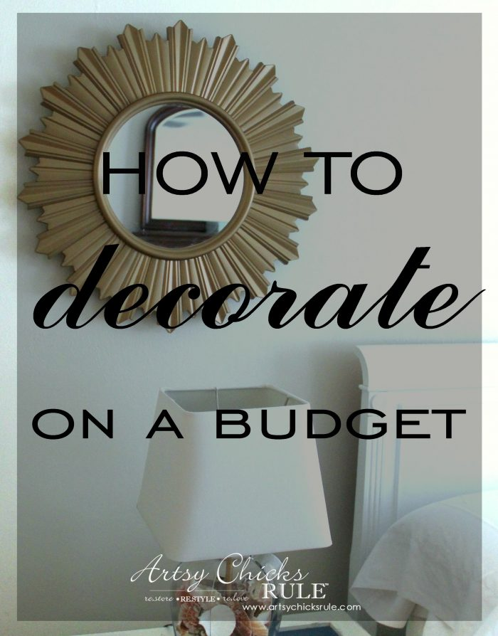 Master Bedroom Progress How To Decorate On A Budget Artsy Chicks Rule