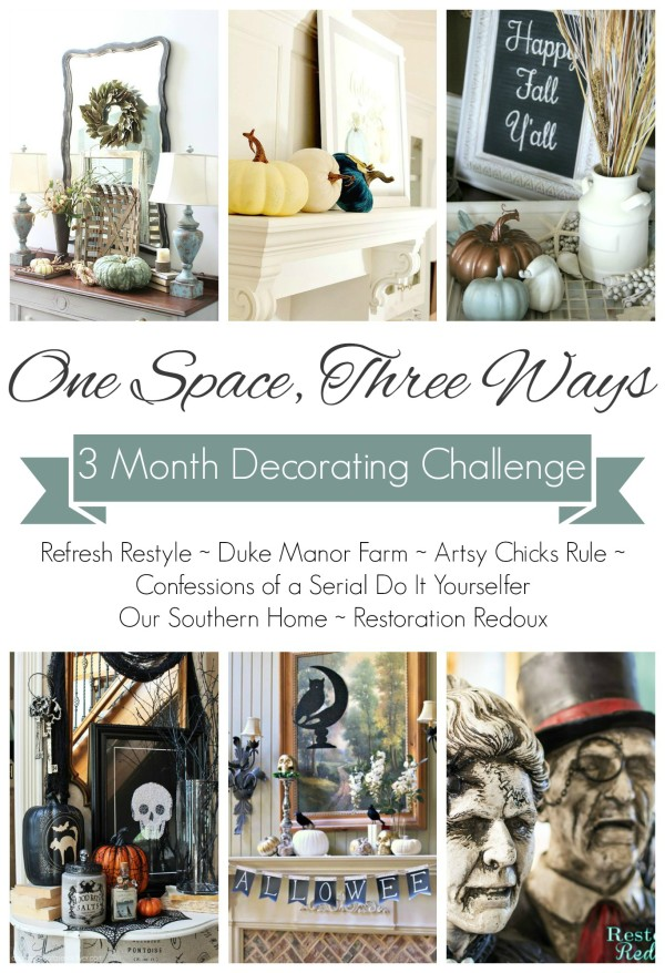 One Space, Three Ways 3 Month Decorating Challenge - artsychicksrule