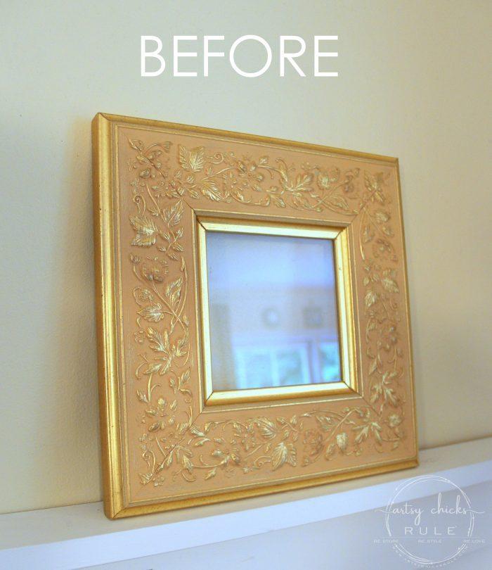 Thrifty Frame Repurposed to COASTAL ART! artsychicksrule.com #coastalwallart #coastalstyle #coastaldecor #walldecor #diyhomedecor #diycoastalcrafts #starfishwallart #thriftymakeover
