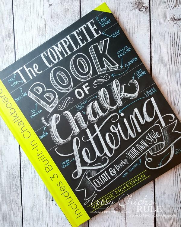 Thrify Mirror to Chalkboard - Chalk Lettering Book - artsychicksrule #chalkart #chalkboard