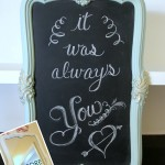 Thrifty Mirror to Chalkboard (Trash to Treasure)