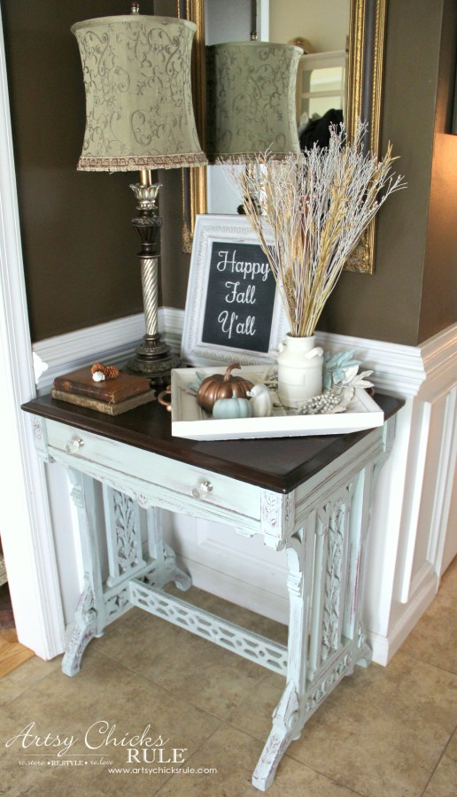 Welcoming Fall Foyer - Neutral Coastal Decor - artsychicksrule