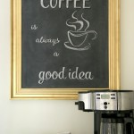 Chalkboard Coffee Bar Menu Board (repurposed framed print)