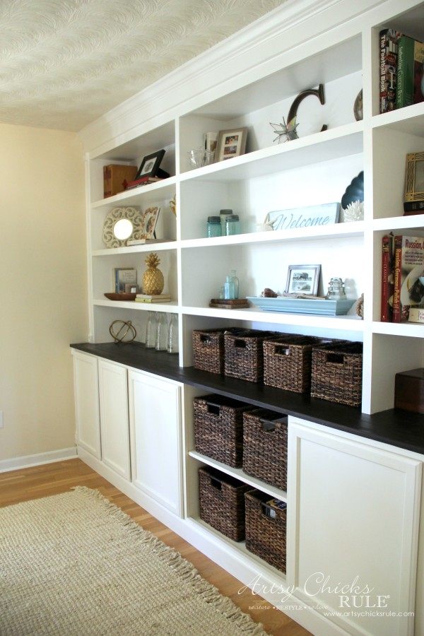 DIY Bookcase Tutorial - FULL TUTORIAL - artsychicksrule.com #DIYBookcase #Bookcase #diybuiltin