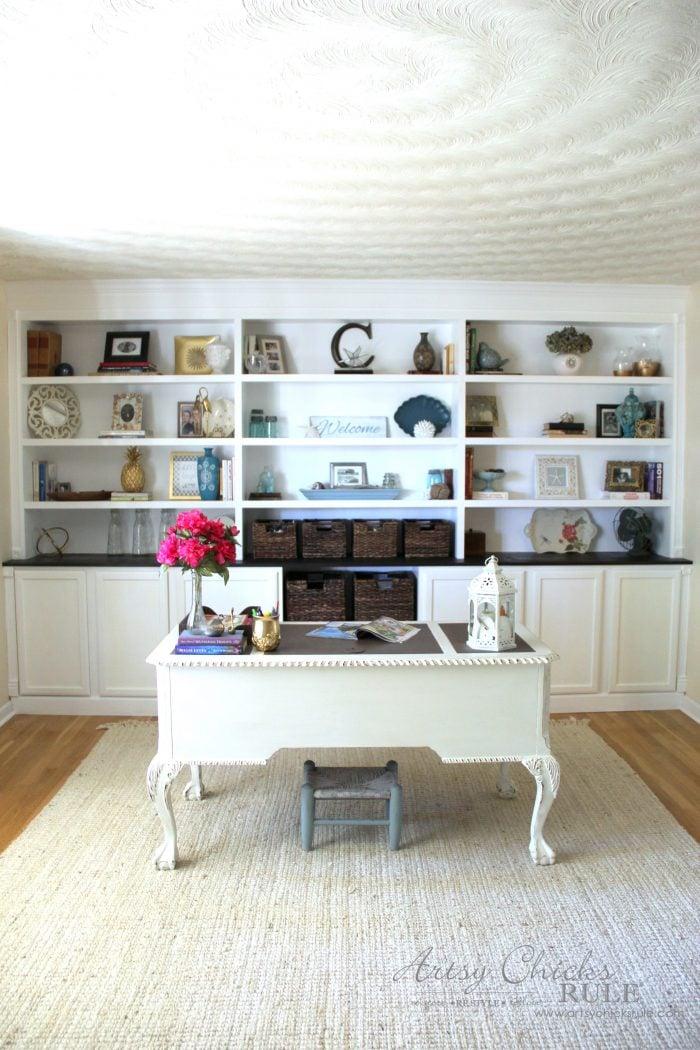 DIY Built-In Bookcase Wall - Inexpensive DIY for Custom ...