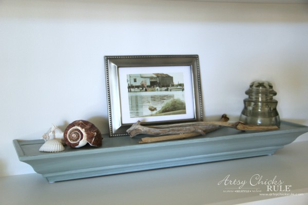 DIY Built-In Bookcase Wall - Nautical Decor - artsychicksrule #bookcase #diy