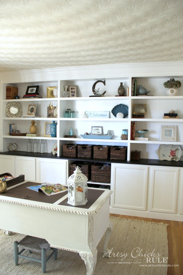 DIY Built-In Bookcase Wall - Thrifty Custom DIY - artsychicksrule #bookcase #diy