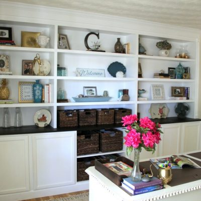 DIY Built In Bookcase Reveal