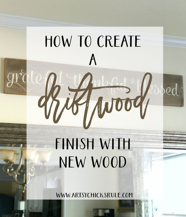Super easy way to create DRIFTWOOD on new wood to make it look old! Love this!