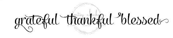 Grateful, Thankful, Blessed Graphic - artsychicksrule.com