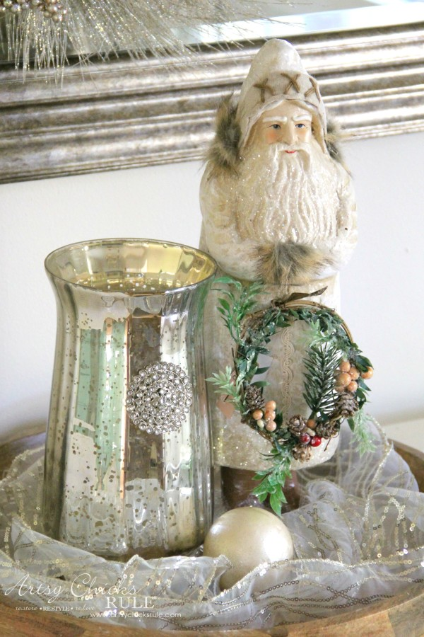 Holiday Decor Ideas with At Home (Pt 2 of 3) Lavish and Luxe Santa - #AtHomeforChristmas #AtHomeFinds #ad