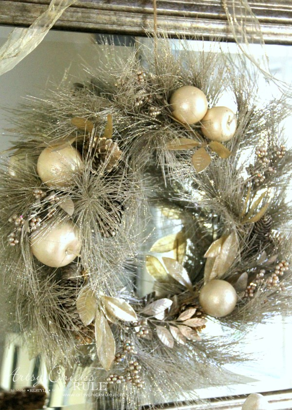 Holiday Decor Ideas with At Home (Pt 2 of 3) Lavish and Luxe Wreath - #AtHomeforChristmas #AtHomeFinds #ad