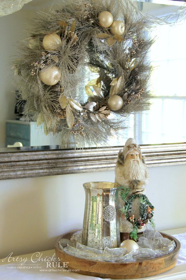 Holiday Decor Ideas with At Home (Pt 2 of 3) Vignette - #AtHomeforChristmas #AtHomeFinds #ad